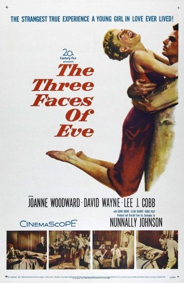 Обложка фильма Три лица Евы (The Three Faces of Eve)